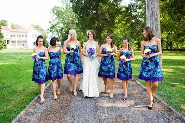 ideias de vestidos estampados para as madrinhas