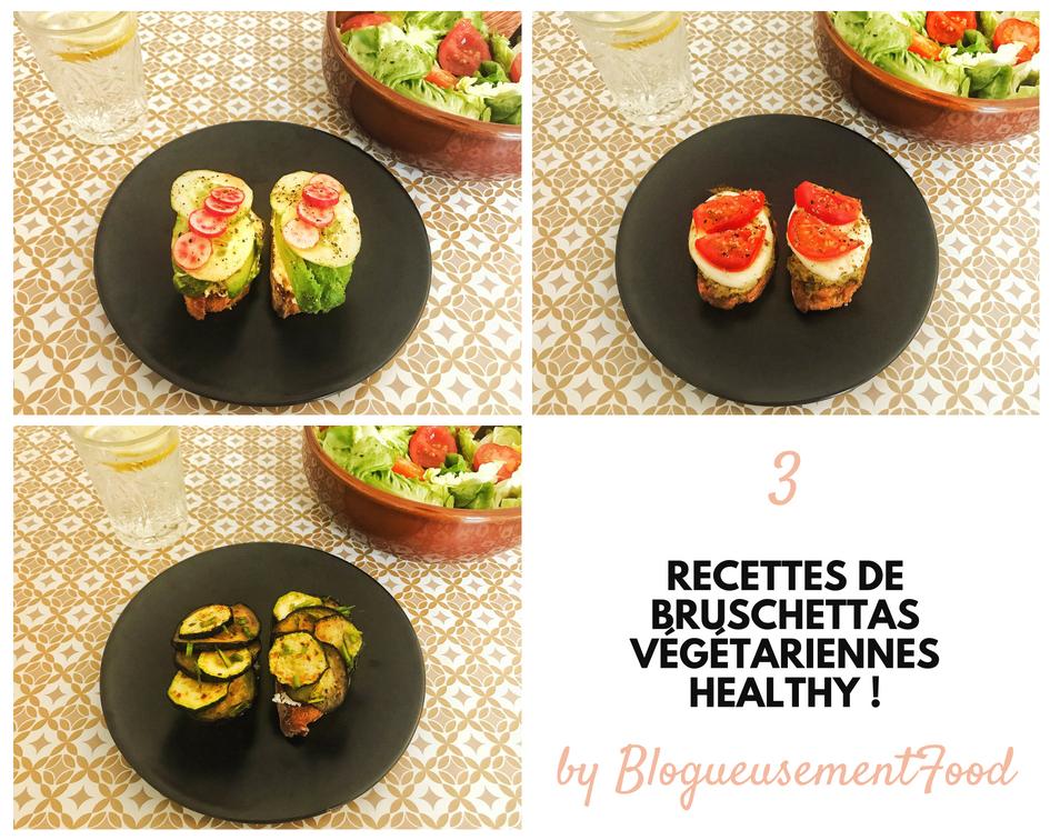 bruschettas végétariennes healthy