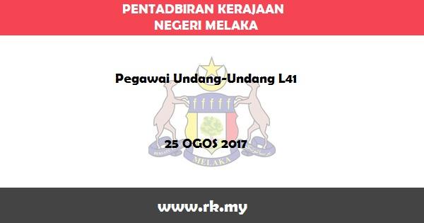 Jawatan Kosong di Pentadbiran Kerajaan Negeri Melaka