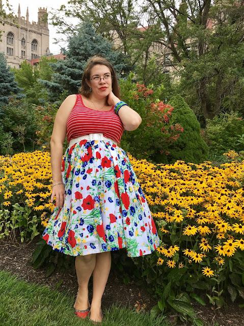 Trashy Diva Wildflowers streetcar as skirt