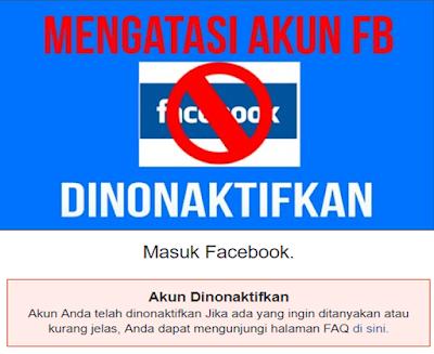 atasi akun facebook nonaktif