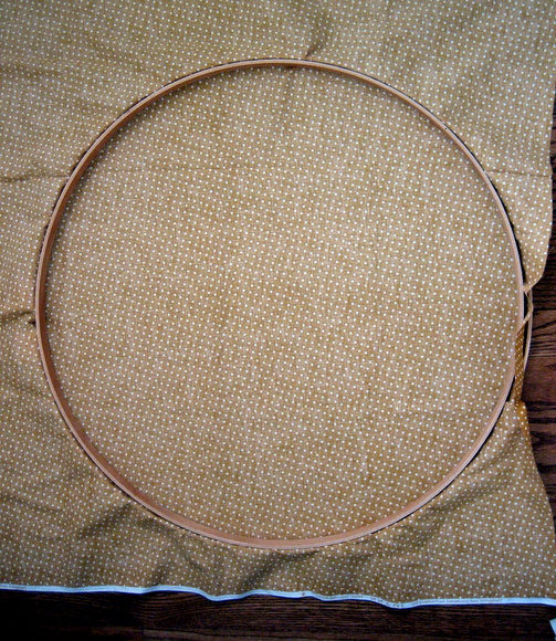 Stretch your fabric across the embroidery hoop