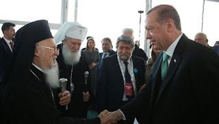 Συνάντηση του Οικουμενικού Πατριάρχη Βαρθολομαίου με τον Τ. Ερντογάν