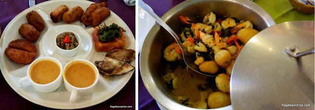 Pratos do restaurante Oficina do Sabor, em Olinda