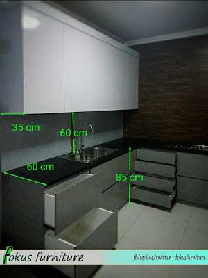 standart ukuran kabinet kitchen bawah
