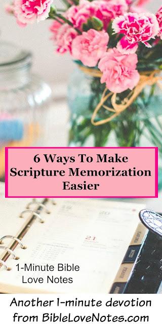 Memorization of the Bible at BibleLoveNotes.com