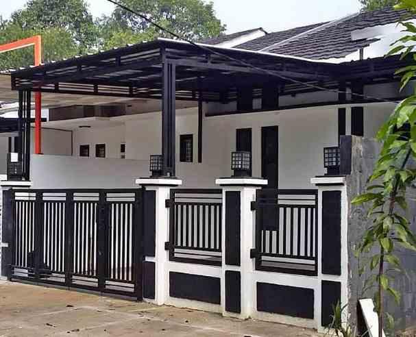 Tampak depan pagar rumah minimalis type 36