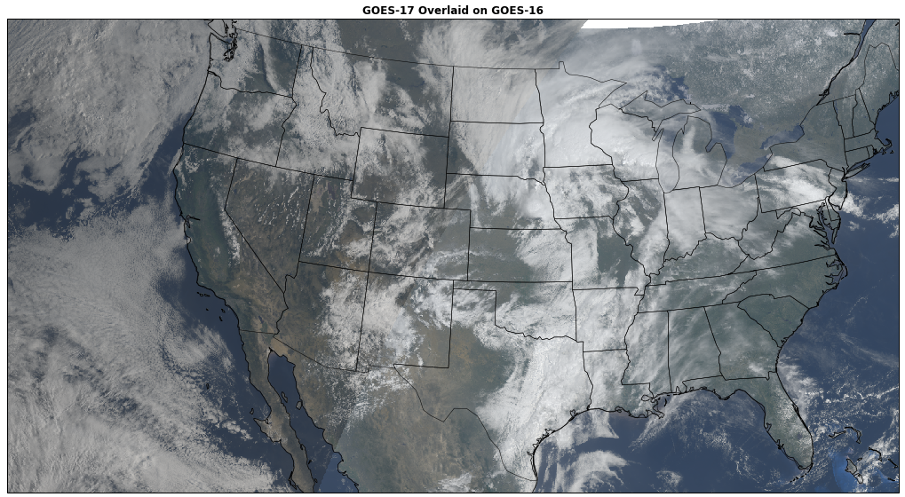 Brian Blaylock's Python Blog: GOES-16 and GOES-17 Overlay