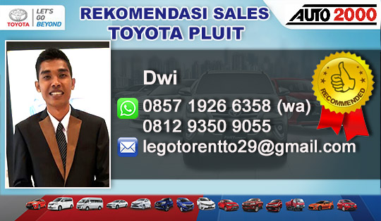 Rekomendasi Sales Toyota Pluit