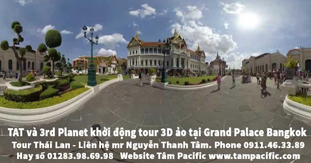 TAT và 3rd Planet khởi động tour 3D ảo tại Grand Palace Bangkok