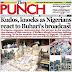 NAIJA NEWSPAPERS: TODAY'S THE PUNCH NEWSPAPER HEADLINES [22 AUGUST, 2017].