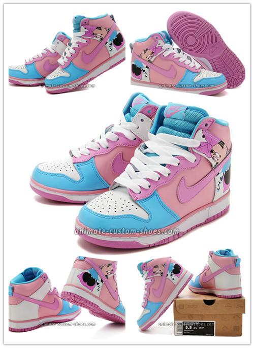 Tina: Custom Dunk Nike Hightops Minnie Mouse Women Sneakers