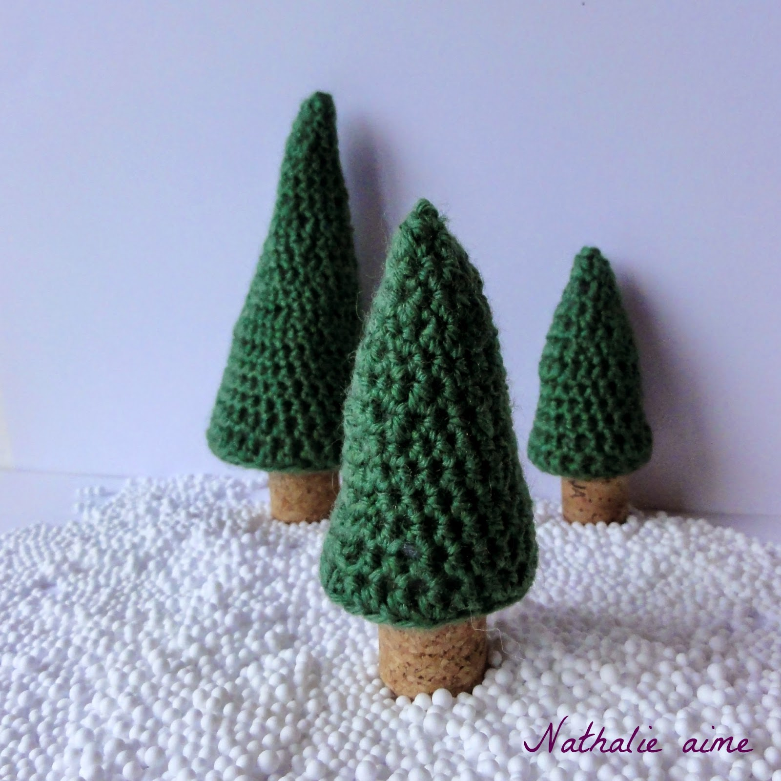 nathalie m sc 253 sapins de no l au crochet pour ma d co. Black Bedroom Furniture Sets. Home Design Ideas