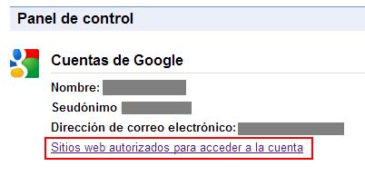 Google Panel de Control