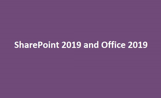 SharePoint 2019 release date