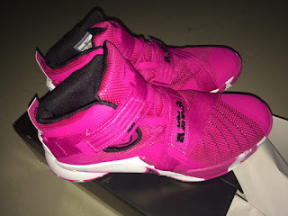 new style a3137 3f07c Nike Sneaker View: LeBron Soldier 9 Peach Pink White Sneaker