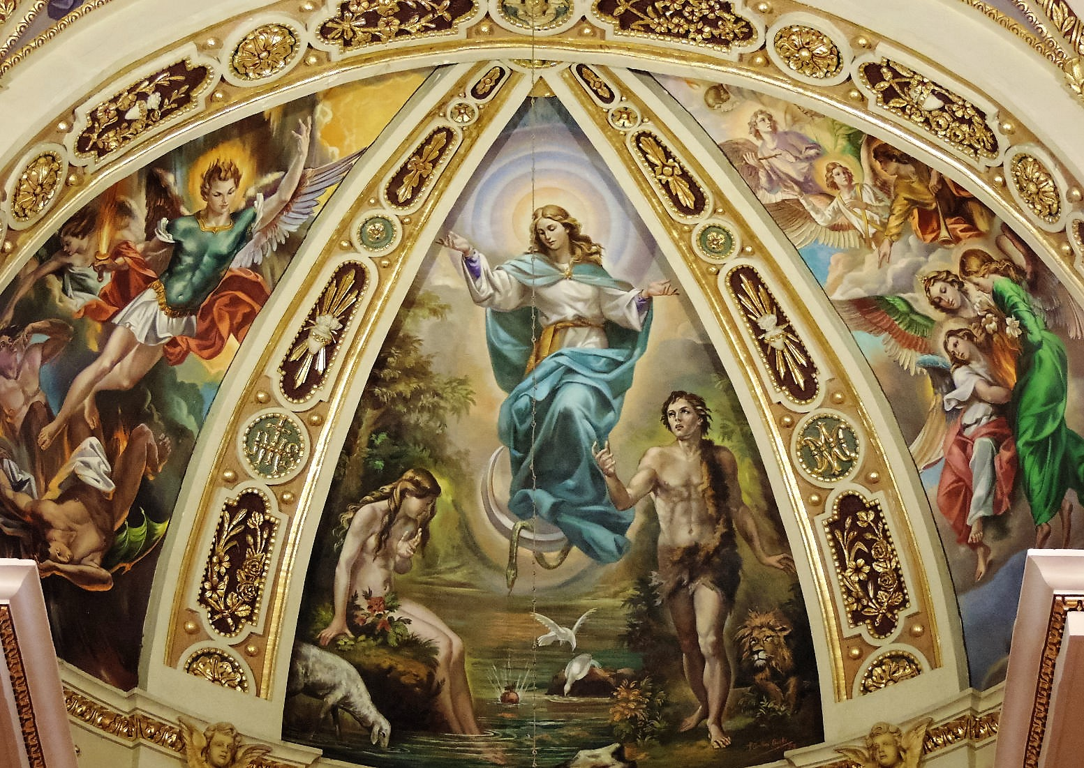 Dun Giljan's Blog: Church ceiling paintings