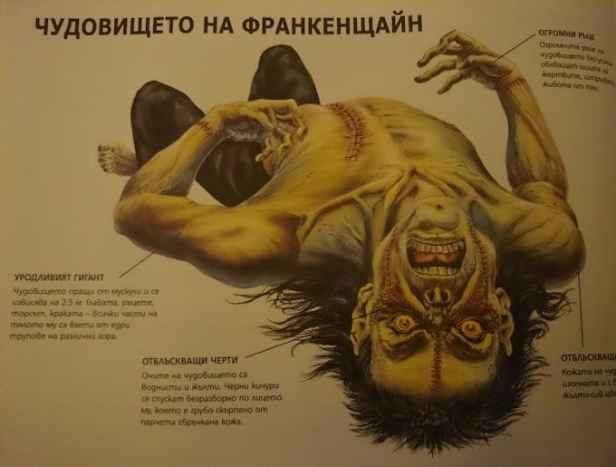 Зловещото чудовище на Франкенщайн,един от най-лошите кошмари на човечеството