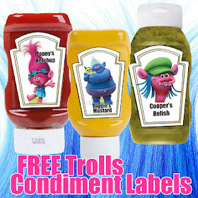 free trolls condiment labels