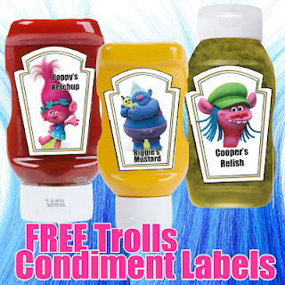 free trolls condiment labels