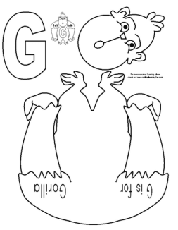 Muck Monsters: Letter G: G is for gorilla:cut and paste