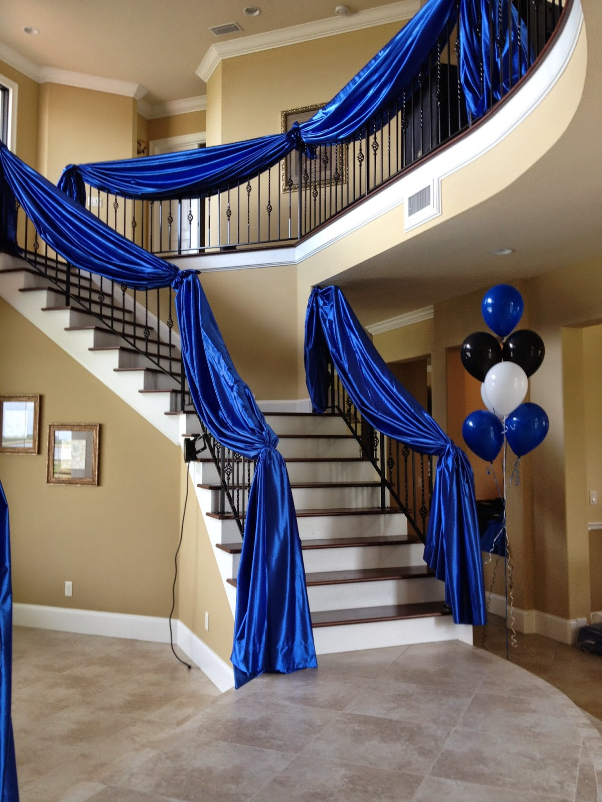 Party people event decorating company fabric and balloon - How to decorate stairs ...