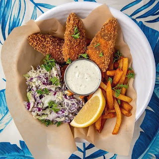 vegan fish and chips from No Bones Beach Club