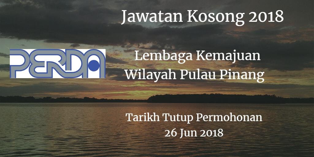 Jawatan Kosong PERDA 26 Jun 2018