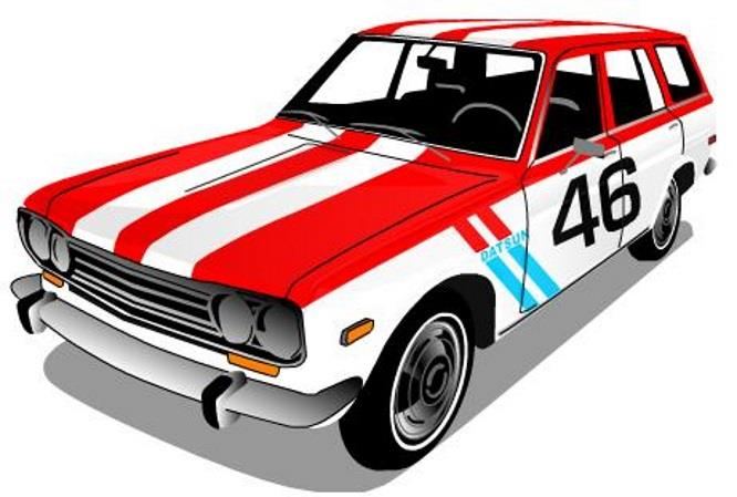 PAPERMAU: Easy-To-Build 1970`s Datsun 510 Wagon Paper Model