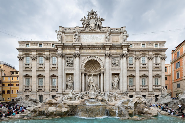 Fontana di Trevi or Trevi Fountain, designed by Florentine Nicola Salvi and completed in 1762. Photo: Wikimedia.org.