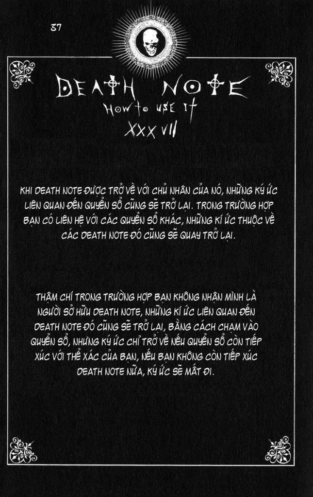 Death Note chapter 110 - how to use trang 40
