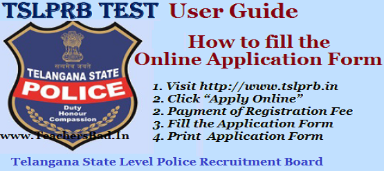 how to apply,tslprb test 2018,police constables recruitment 2018 user guide,how to fill online application form,step by step online applying,ts police constable posts 2018,ts pc posts 2018 recruitment notification
