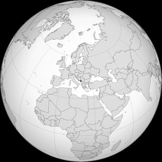 Letak negara Montenegro - Kedutaan Besar Negara Montenegro