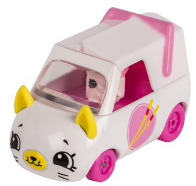 Автомобиль Шопкинс белый с мордочкой котенка