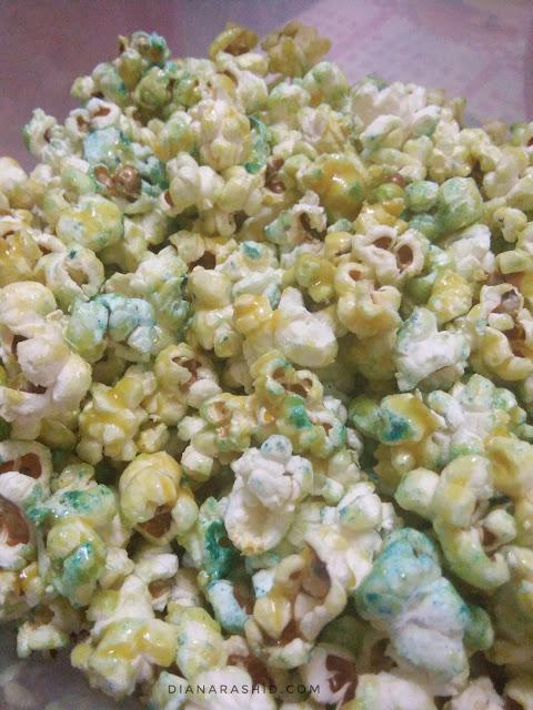 resepi popcorn rangup, sedap dan mudah