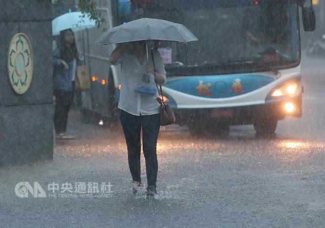Peringatan Hujan Lebat dan Petir di Taiwan Sore Malam Ini