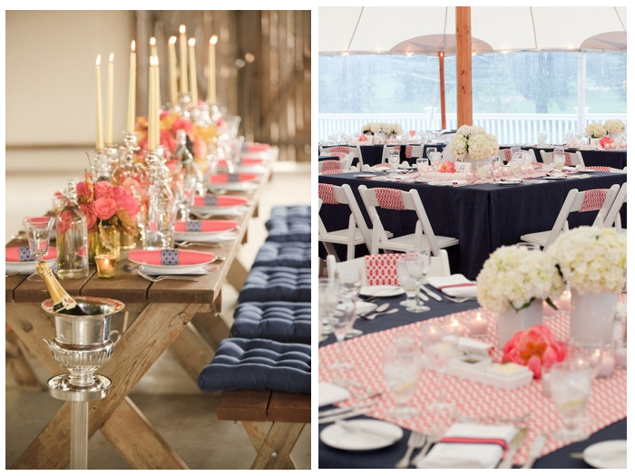 Navy And Coral Wedding Colors: California Livin Home: COLOR CRUSH = Navy + Coral
