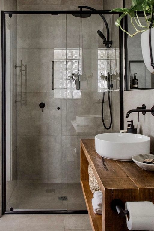 INDUSTRIAL RUSTIC BATHROOM DESIGN IDEAS FOR VINTAGE HOME