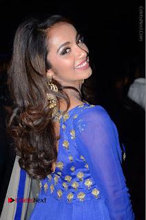 Telugu Actress Tejaswi Madivada Pos in Blue Long Dress at Nanna Nenu Na Boyfriends Audio Launch  0017.JPG