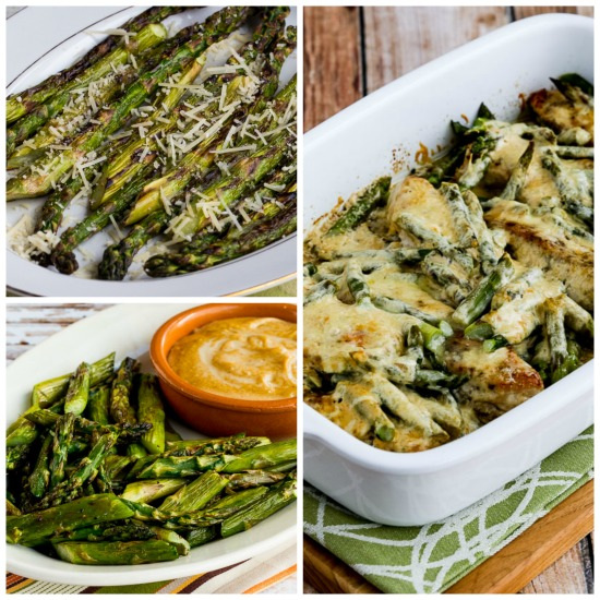 Twenty Favorite Low-Carb Asparagus Recipes found on KalynsKitchen.com