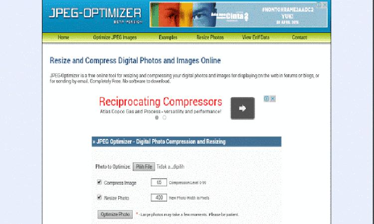 Cara Kompres Memperkecil/Ukuran Foto atau Gambar Tanpa Merusak Kualitas Gambar