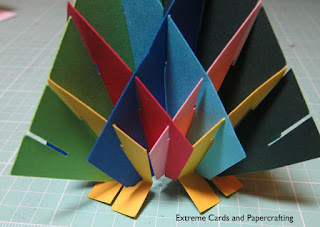 sliceform Christmas tree pop up card assembly