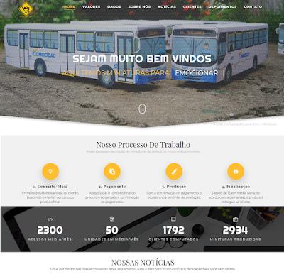 Esta no ar o novo site da Em Miniaturas, a versão 2019 trás novidades
