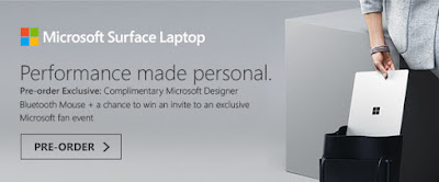 Source: Challenger eDM. Preorder invitation for the Microsoft Surface Laptop.