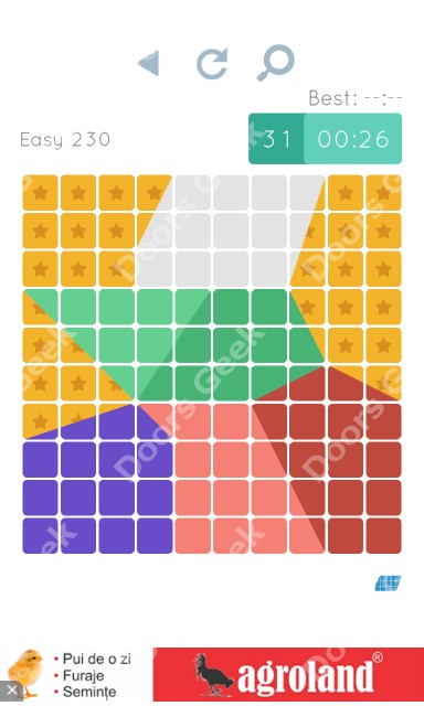 Cheats, Walkthrough for Blocks and Shapes Level 230