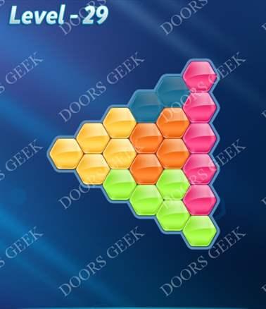 Block! Hexa Puzzle [Intermediate] Level 29 Solution, Cheats, Walkthrough for android, iphone, ipad, ipod