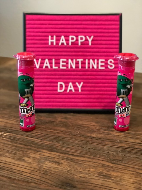 M&Ms Valentine's candy