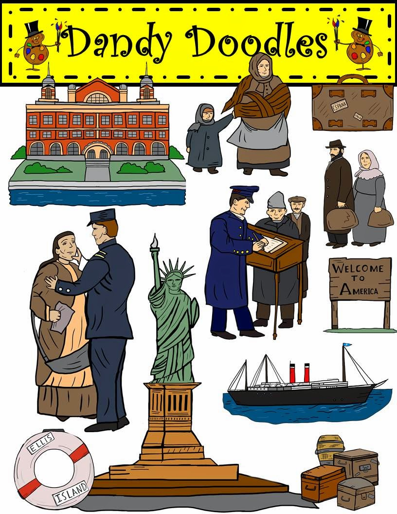 http://www.teacherspayteachers.com/Product/Ellis-Island-Immigration-Clip-Art-by-Dandy-Doodles-1631314