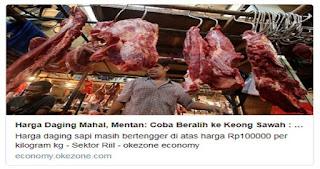 Harga Daging Mahal, Menteri Pertanian Sarankan Beralih ke Keong Sawah