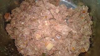 Schöne Fleisch stücke und auch Kartoffel kann man gut erkennen